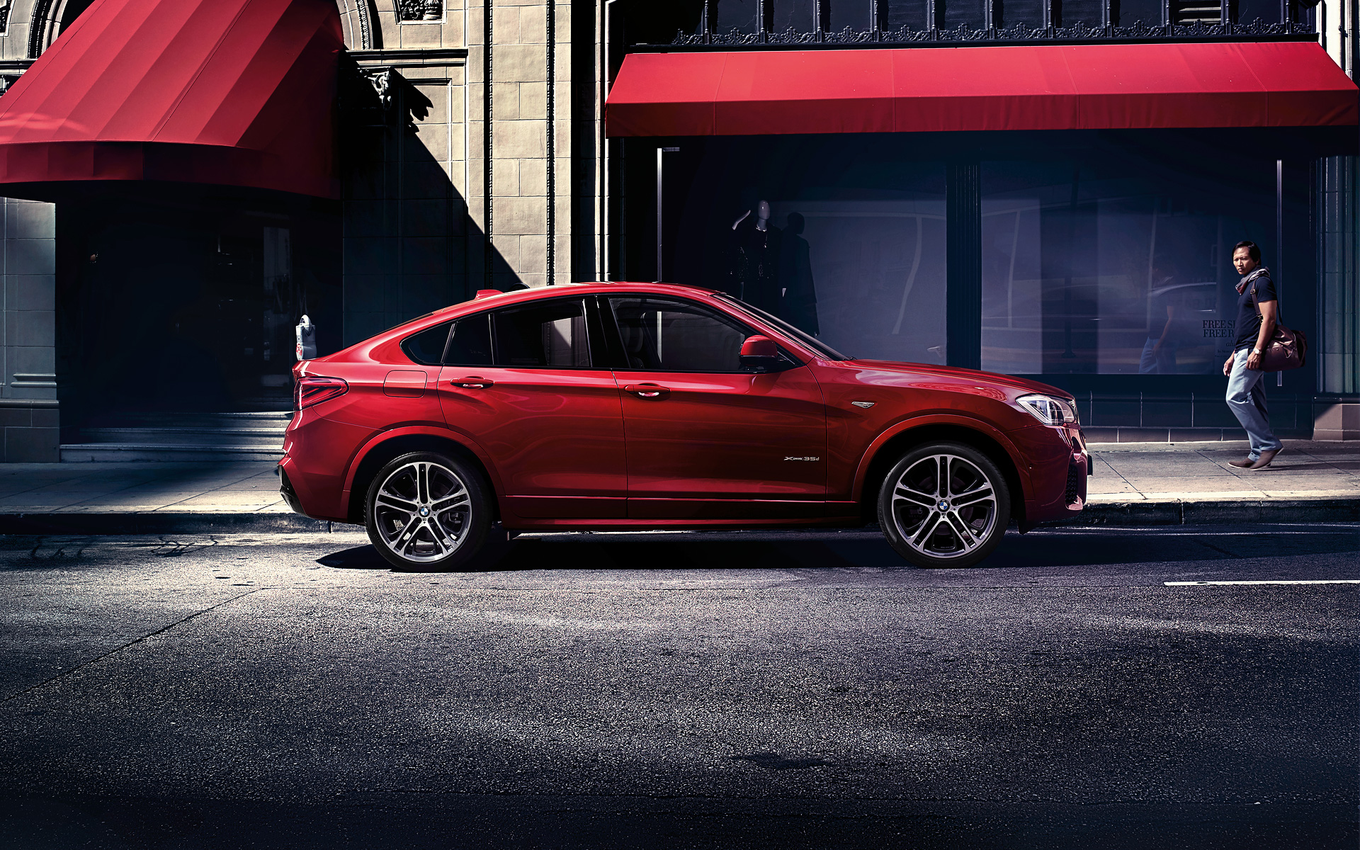 Bmw X4 Laterale Rossa